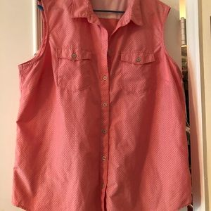 Eddie Bauer sleeveless blouse 2X